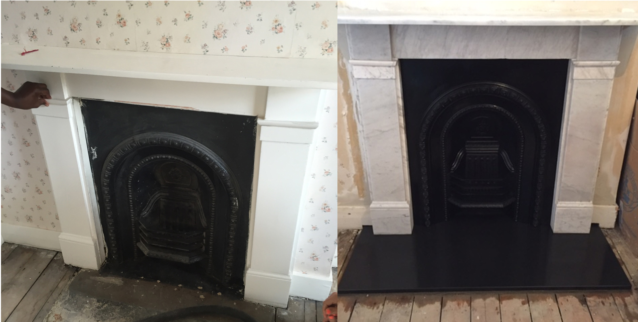 Fireplace restoration ward antique fireplaces Victorian fireplace restoration