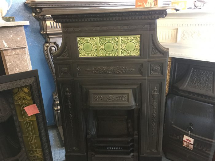 Very unusual Victorian fireplace Front