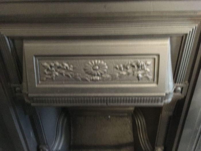 Very unusual Victorian fireplace close up